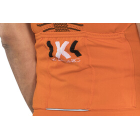 X-Bionic The Trick Biking Shirt SS Full Zip Men Orange Sunshine/Black